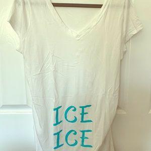 Ice ice baby maternity shirt size large